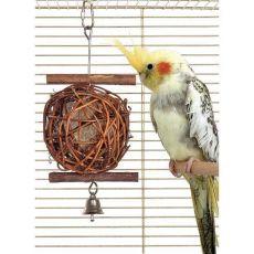 Wooden bird ball 10cm durchmesser