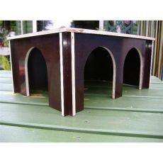 Steckbares Nagerhaus 3 Türen braun groß