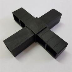 2D4 Kreuz schwarz für 25 x 25 x 1,5 mm