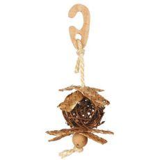 Trixie Weidenball mit Glocke, Ø 5,5 cm/18 cm