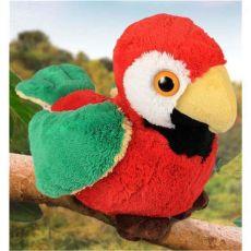 Stofftier Papagei sitzend 21 cm