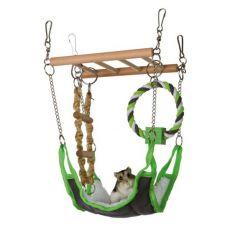 Hängebrücke mit Hängematte für Mäuse, Hamster 17 × 22 × 15 cm