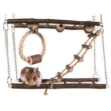 Natural Living Hängebrücke Naturholz für Mäuse, Hamster 27 × 17 × 7 cm