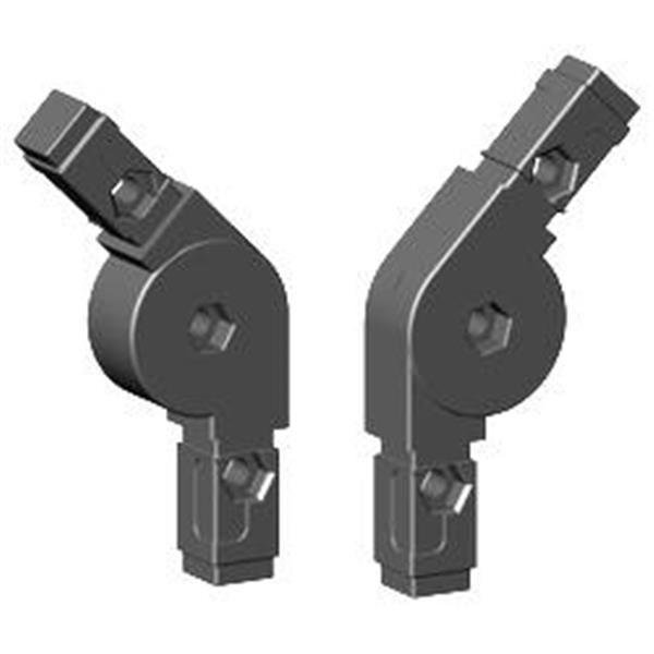 2D2 Gelenkverbinder für Alurohr 20x20x1,5mm