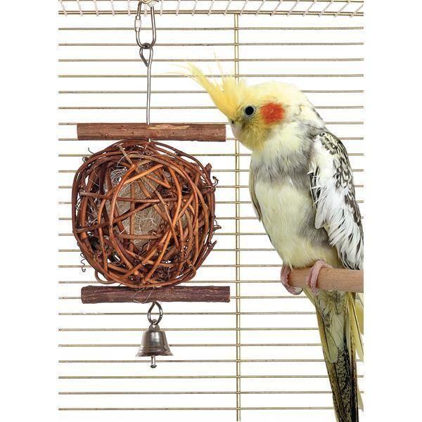 Wooden bird ball 5cm durchmesser