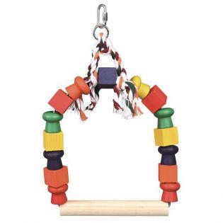 Trixie Bogenschaukel mit bunten Holzklötzen 20,5x29 cm