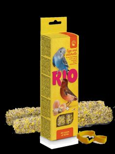 RIO Sticks für alle Vögel mit Ei und Muschelkalk, 2x40 g