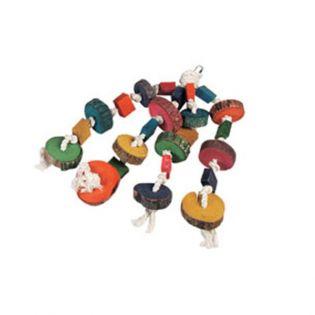Papageienspielzeug Perlenhänger mit 4 Seilen