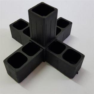 3D5 Kreuz mit Abgang schwarz für 20 x 20 x 1,5