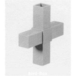 2D4V25 Kreuz für 25 x 25 x 2 mm
