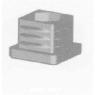 V20 Abschlußstopfen grau für 20 x 20 x 1,5 mm