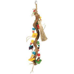 Holzspielzeug mit Weidenbällen, 56 cm