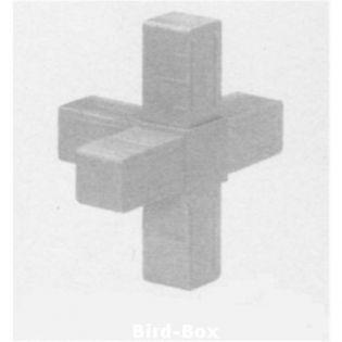 3D5 Kreuz mit Abgang für 20 x 20 x 1,5