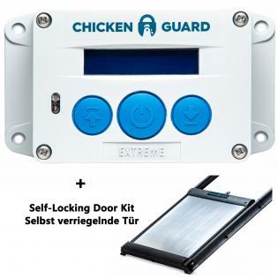 ChickenGuard © Extreme, automatische Steuerung für Hühnerklappen - Combi - mit Door Kit