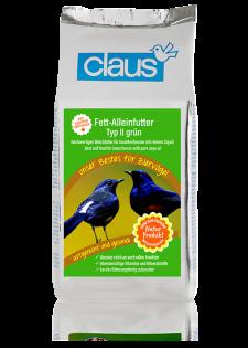 Claus Fett-Alleinfutter II grün 1000 g