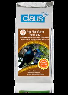 Claus Fett-Alleinfutter III braun 1000 g