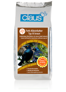 Claus Fett-Alleinfutter III braun 500 g
