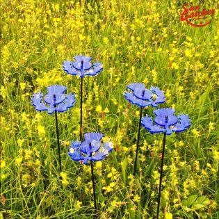 5x große Sonnenfänger SunCatcher Garten Dekoration H75cm Ø15cm  Scottish Thisle, blau